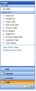 Customize Current view link and Task View in Outlook 03
